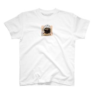 PUG-パグ-ぱぐ リアルパグ-1 ワンポイントTシャツ T-shirts