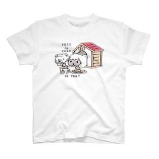 CT112 YETI is yeahの家でお茶 T-shirts