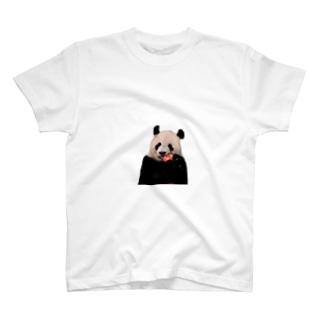 パンダ と スイカ T-shirts
