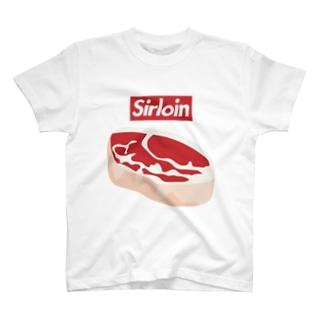 Sirloin-サーロイン-赤BOXロゴ T-shirts