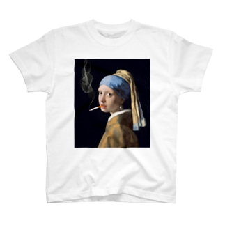 DRIPPEDの咥えタバコの少女 T-Shirt
