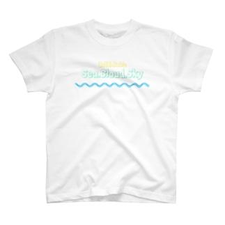 Sea.Cloud.Sky T-shirts