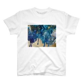青と金 T-shirts