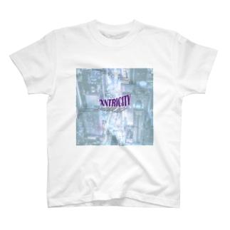 でおきしりぼ子のえきせんとりしてぃ-正方形(文字小さめ) T-Shirt