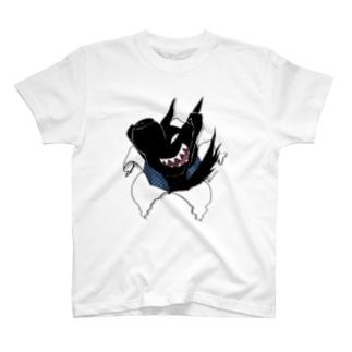 『悪ガキクロイヌ君』 T-shirts