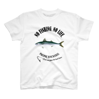 猫と釣り人のMASABA_EB_2CW T-shirts
