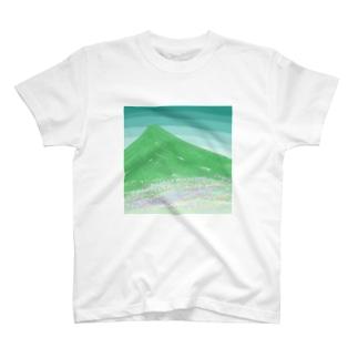 山と花畑 T-shirts