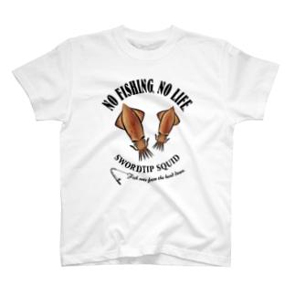 猫と釣り人のMARUIKA_EB_1CW T-shirts