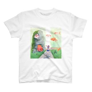 金魚の庭園 T-shirts