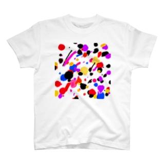 ドリッピング柄風 T-shirts