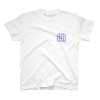 tulip×check T-Shirt