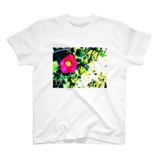 ツバキ T-shirts