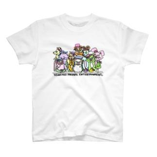 ていねいごあにまる 集合写真 カラー T-shirts