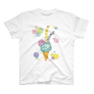 チョコミントアイス チンアナゴ トッピング T-Shirt