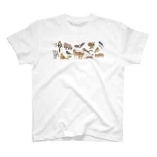 夏の山の動物たち T-shirts