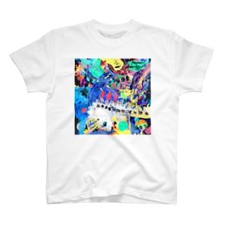 家出したゴジラの帰宅 Run-away Godzilla Came Back Home T-Shirt