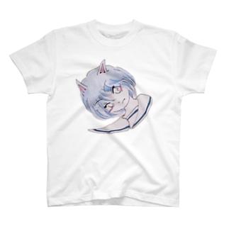 蒼い髪の女の子2 T-shirts