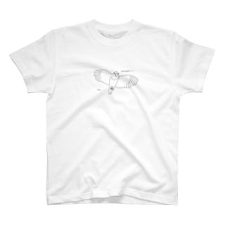飛んでくるインコ T-shirts