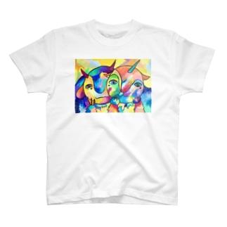 お月様が見守る方向へ2 T-Shirt
