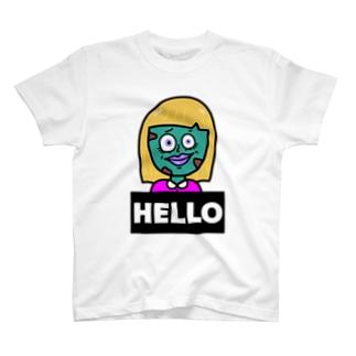 ゾンビちゃん hello bye T-shirts