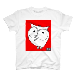 口開けてるフクロウ(codycoby ) T-shirts