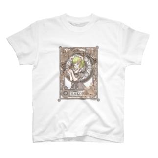 箱入りくま兄さん セピア色葡萄フレーム T-shirts