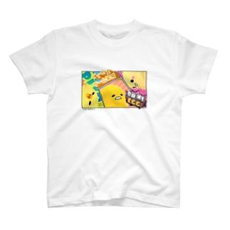 【ぐでたまYouTubeグッズ】半袖TシャツC T-shirts