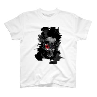 つぎはぎの顔 T-shirts