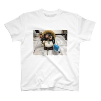 たぬきとコンクリートと音楽 T-shirts