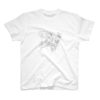 お花いっぱい T-shirts