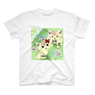 スナネコの兄妹 らいむくん💚らいちちゃん T-shirts