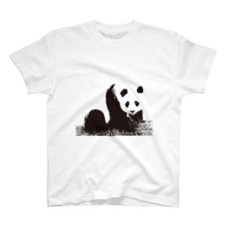 モノクロパンダ T-shirts