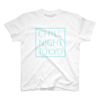 CNT square  logo / Tiffany  blue T-shirts