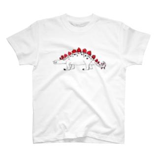 クレヨンステゴサウルスTシャツ T-shirts