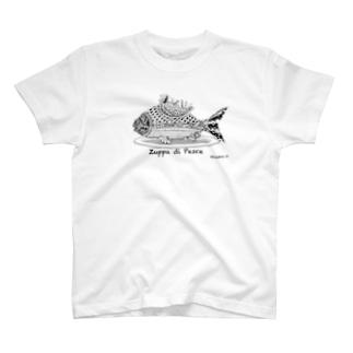 お魚スープ(モノトーン) T-shirts