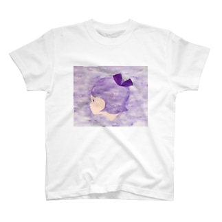 むらさきリボンちゃん T-shirts