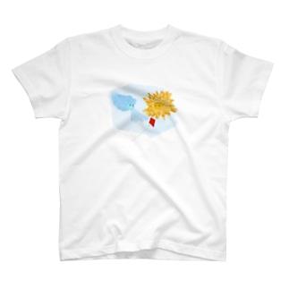 北風と太陽(背景透明) T-shirts