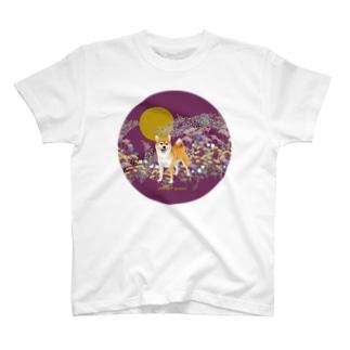 柴犬と月 T-shirts