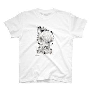 ローズちゃんモノクロイラスト(横顔) T-shirts