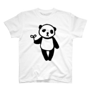 らくがきシリーズ★ふにゃふにゃパンダ T-shirts