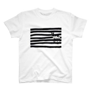 バンビとボーダー T-shirts