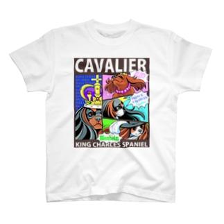キャバリアシャツ(フルカラー/騎士+王+王子+紅玉) T-shirts