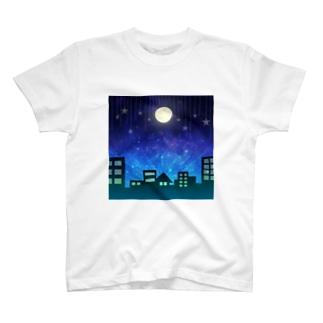 夜の空 T-shirts