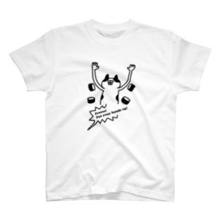 PokuStarの手を挙げるネコ T-shirts
