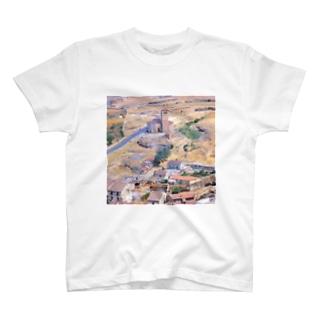 スペイン:セゴビア郊外の村の風景 Spain: view of a village near around Segovia T-shirts