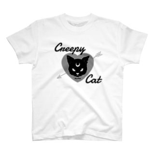 【MOON SIDE】 Creepy Cat #Black Ver.1 T-shirts