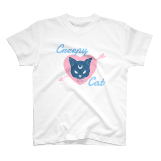 IENITY / MOON SIDEの【MOON SIDE】 Creepy Cat #Pink*Blue T-shirts