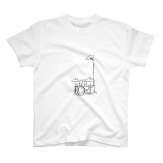 シンバルがめっちゃ高いねこ T-shirts