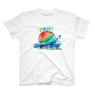 幸せなクジラ T-shirts