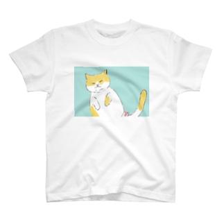 癒しへそ天猫さん T-Shirt